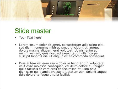 Шаблон PowerPoint Банкомат - Второй слайд