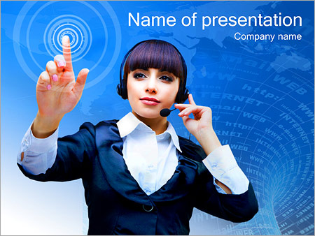 Шаблон презентации Сенсорный экран - Титульный слайд