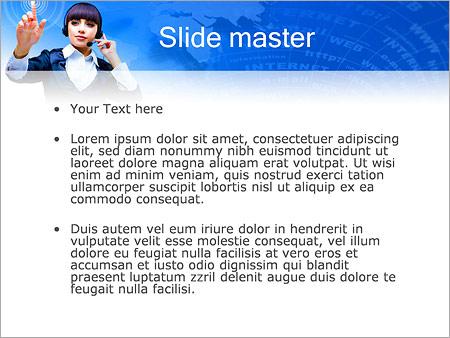 Шаблон PowerPoint Сенсорный экран - Второй слайд