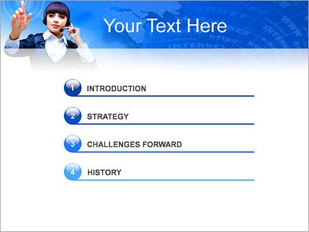 Шаблон для презентации Сенсорный экран - Третий слайд