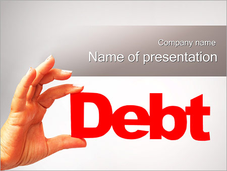 Шаблон презентации Долг - Титульный слайд