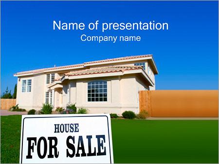 Шаблон презентации Дом для продажи - Титульный слайд