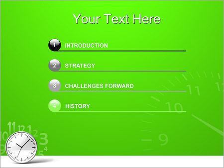 Шаблон для презентации Часы - Третий слайд