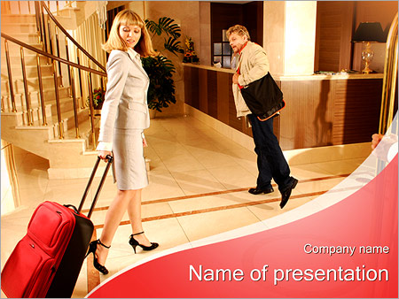 Шаблон презентации Гости в отеле - Титульный слайд