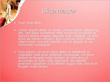 Шаблон PowerPoint Гости в отеле - Второй слайд