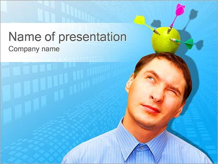 Шаблон презентации Яблоко-мишень на голове - Титульный слайд