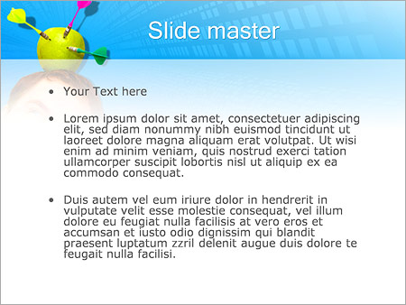 Шаблон PowerPoint Яблоко-мишень на голове - Второй слайд