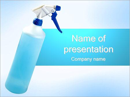 Шаблон презентации Распылитель жидкости - Титульный слайд