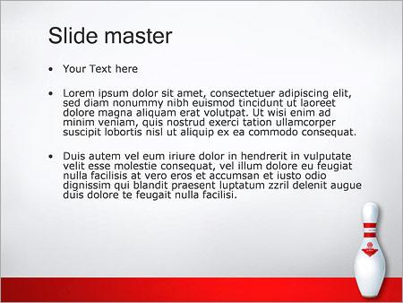 Шаблон PowerPoint Боулинг - Второй слайд