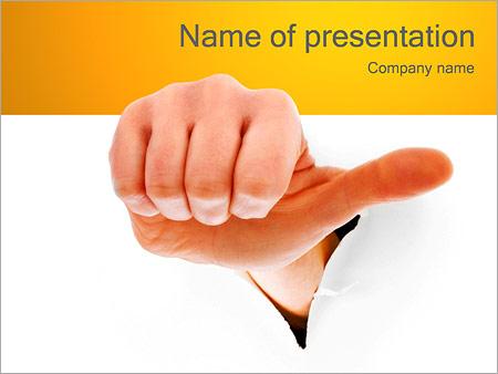 Шаблон презентации Жест рукой - Титульный слайд