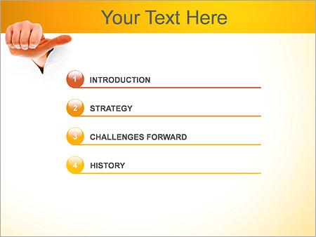 Шаблон для презентации Жест рукой - Третий слайд