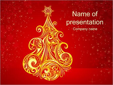 Шаблон презентации Новогодняя елка - Титульный слайд