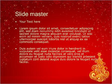 Шаблон PowerPoint Новогодняя елка - Второй слайд