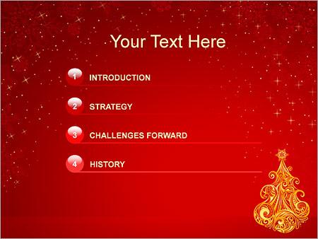 Шаблон для презентации Новогодняя елка - Третий слайд