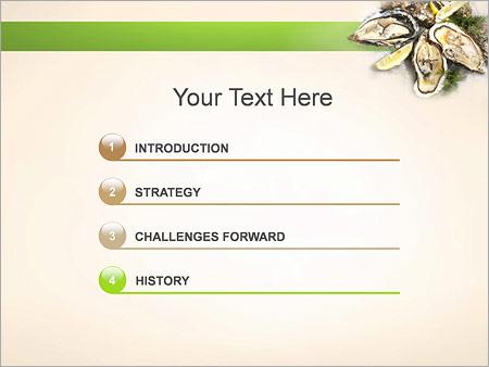 Шаблон для презентации Устрицы - Третий слайд