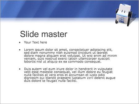 Шаблон PowerPoint Записная книжка - Второй слайд