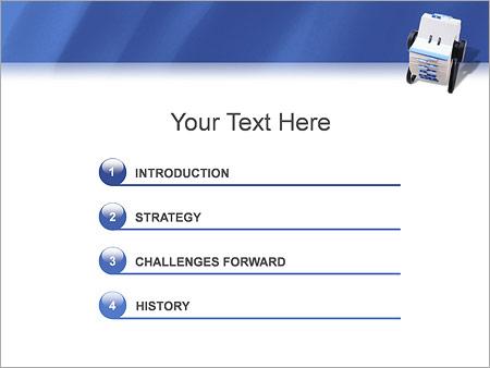 Шаблон для презентации Записная книжка - Третий слайд