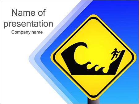 Шаблон презентации Купание запрещено - Титульный слайд