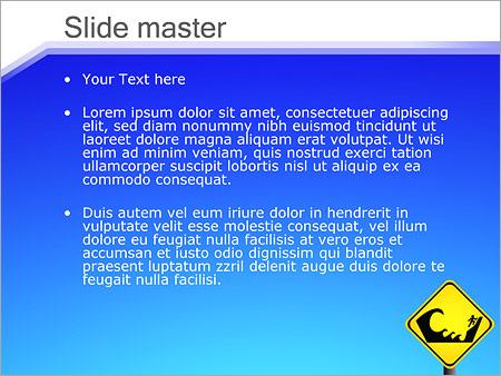 Шаблон PowerPoint Купание запрещено - Второй слайд