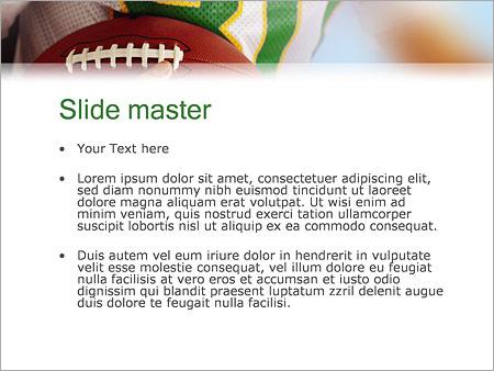 Шаблон PowerPoint Американский футбол - Второй слайд