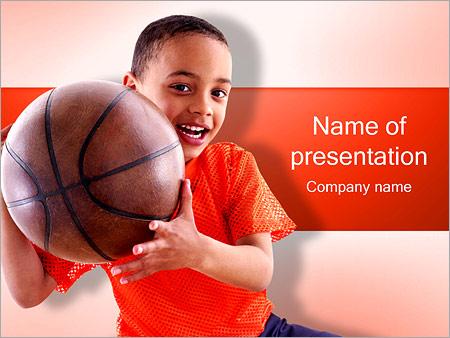 Шаблон презентации Мальчик с мячом - Титульный слайд