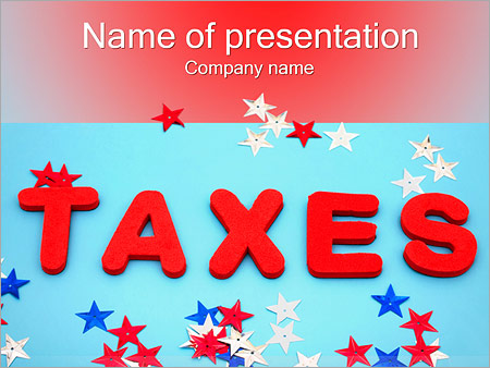 Шаблон презентации Налоги - Титульный слайд