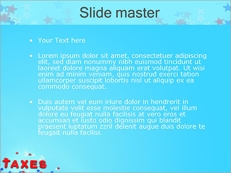 Шаблон PowerPoint Налоги - Второй слайд