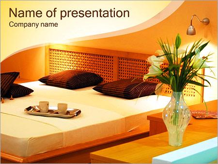 Шаблон презентации Спальня - Титульный слайд