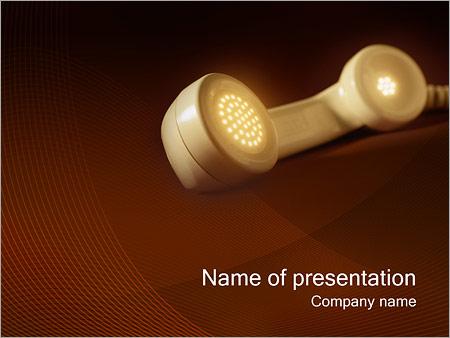 Шаблон презентации Телефонная трубка - Титульный слайд