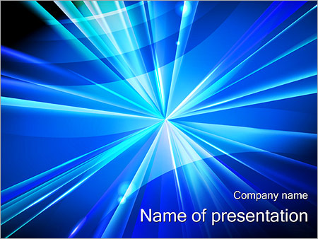 Шаблон презентации Светящаяся точка - Титульный слайд