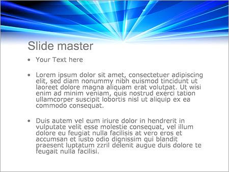 Шаблон PowerPoint Светящаяся точка - Второй слайд