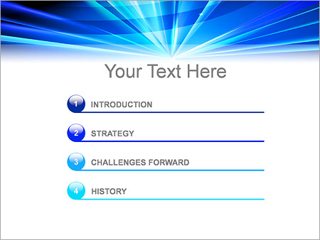 Шаблон для презентации Светящаяся точка - Третий слайд