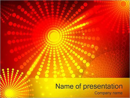 Шаблон презентации Красные и желтые точки - Титульный слайд