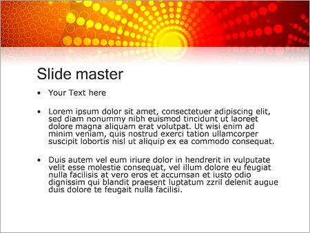 Шаблон PowerPoint Красные и желтые точки - Второй слайд