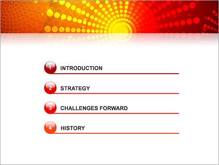 Шаблон для презентации Красные и желтые точки - Третий слайд