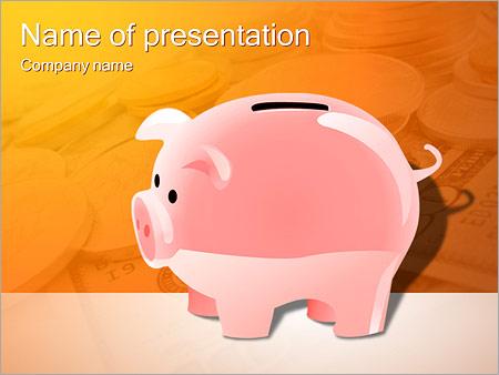 Шаблон презентации Копилка для денег - Титульный слайд