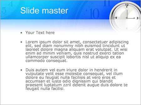 Шаблон PowerPoint Простые настенные часы - Второй слайд