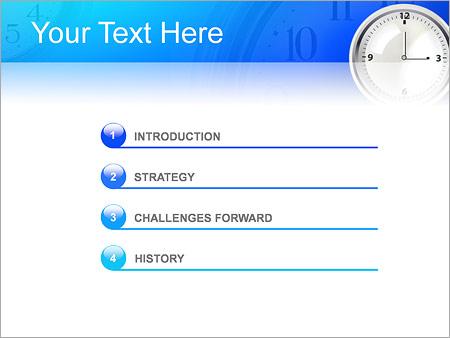 Шаблон для презентации Простые настенные часы - Третий слайд