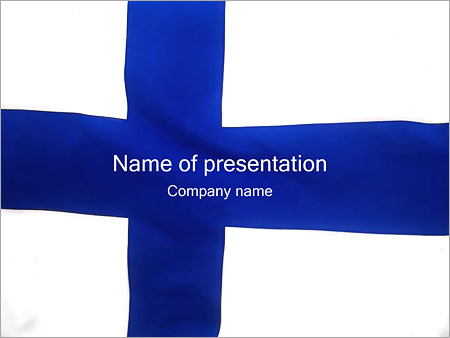 Шаблон презентации Флаг Финляндии - Титульный слайд