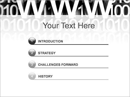 Шаблон для презентации Веб-сайт - Третий слайд