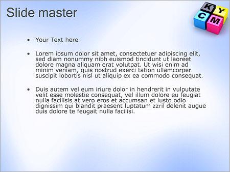 Шаблон PowerPoint CMYK цветовая схема - Второй слайд
