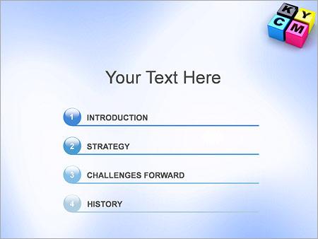 Шаблон для презентации CMYK цветовая схема - Третий слайд