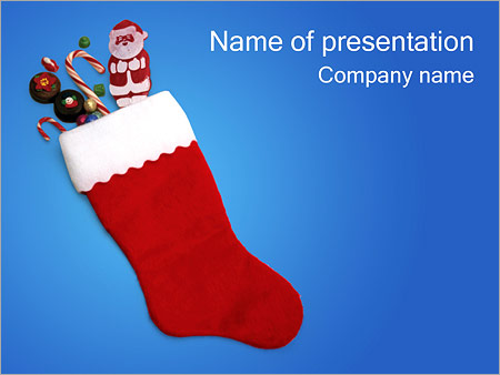 Шаблон презентации Рождественские подарки - Титульный слайд