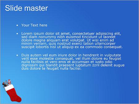 Шаблон PowerPoint Рождественские подарки - Второй слайд