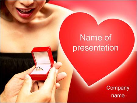 Шаблон презентации Обручальное кольцо - Титульный слайд