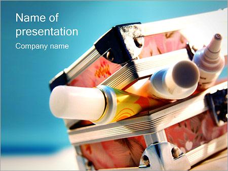 Шаблон презентации Коробка с красками - Титульный слайд