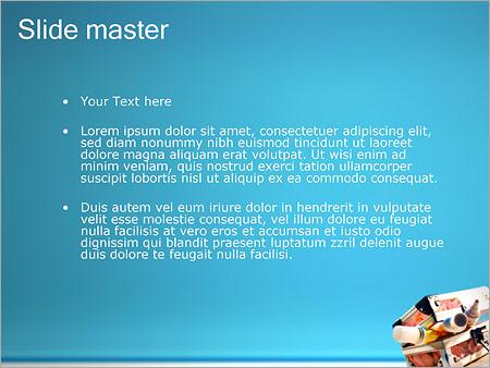 Шаблон PowerPoint Коробка с красками - Второй слайд
