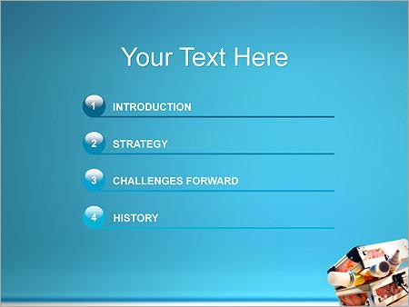 Шаблон для презентации Коробка с красками - Третий слайд
