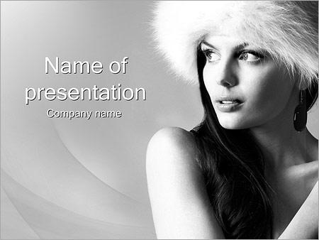 Шаблон презентации Красивая женщина - Титульный слайд