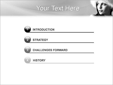 Шаблон для презентации Красивая женщина - Третий слайд